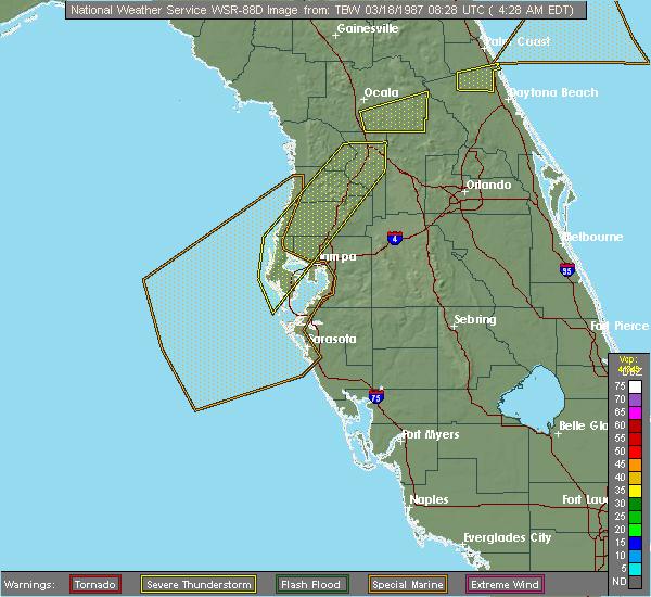 Radar Image for Severe Thunderstorms near Citrus Park, FL at 4/24/2020 5:50 AM EDT