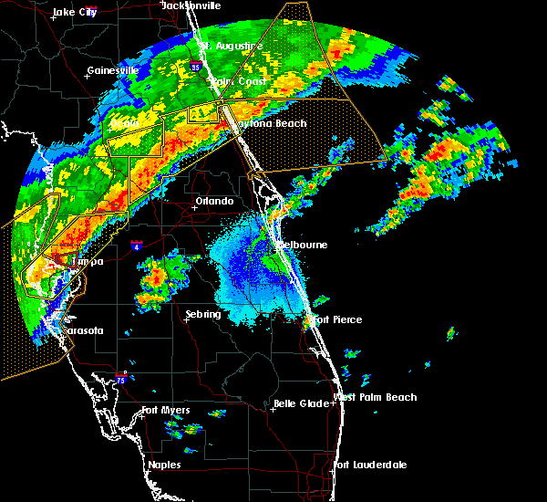 Radar Image for Severe Thunderstorms near Orange City, FL at 4/24/2020 6:02 AM EDT