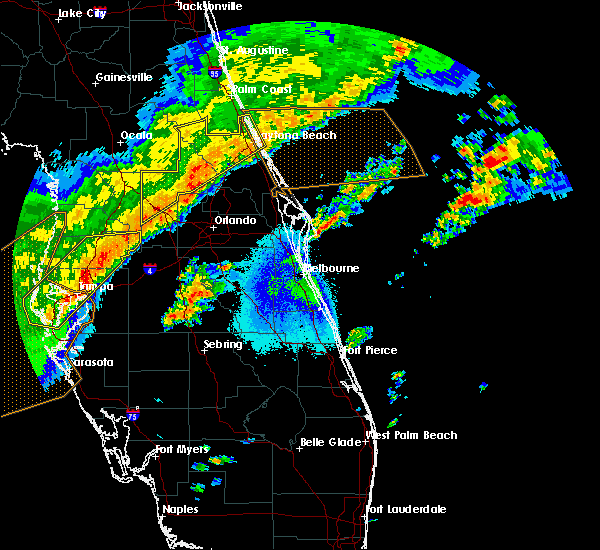 Radar Image for Severe Thunderstorms near Orange City, FL at 4/24/2020 6:28 AM EDT