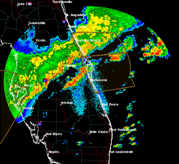 Radar Image for Severe Thunderstorms near Cocoa West, FL at 4/24/2020 7:10 AM EDT