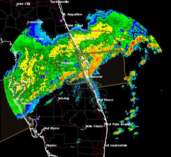 Radar Image for Severe Thunderstorms near Oak Hill, FL at 4/24/2020 7:53 AM EDT