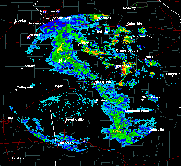 Radar Image for Severe Thunderstorms near Richland, MO at 4/24/2020 2:29 PM CDT