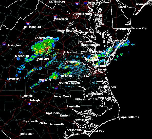 Radar Image for Severe Thunderstorms near Goochland, VA at 4/24/2020 3:34 PM EDT