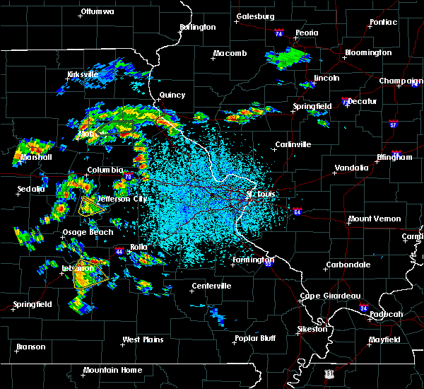 Radar Image for Severe Thunderstorms near St. Martins, MO at 4/24/2020 2:38 PM CDT