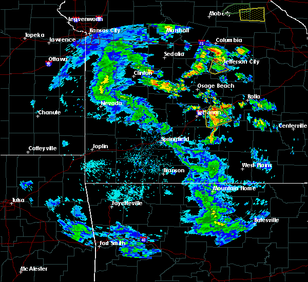Radar Image for Severe Thunderstorms near Fort Leonard Wood, MO at 4/24/2020 2:49 PM CDT