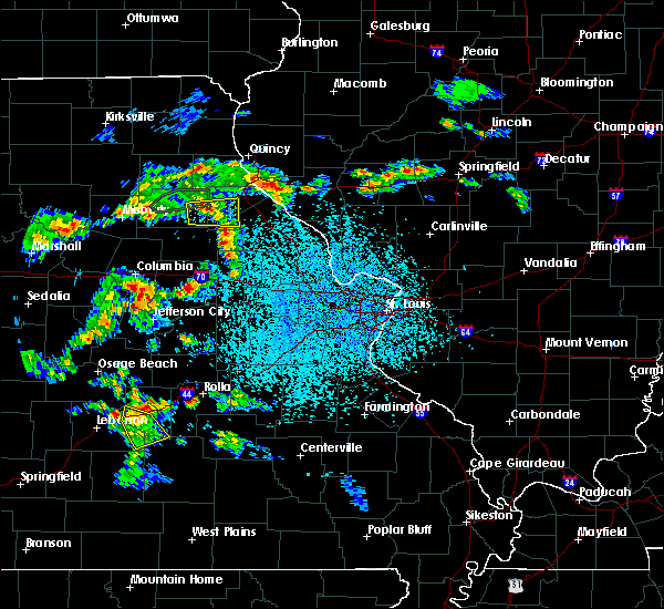 Radar Image for Severe Thunderstorms near Stoutsville, MO at 4/24/2020 2:57 PM CDT