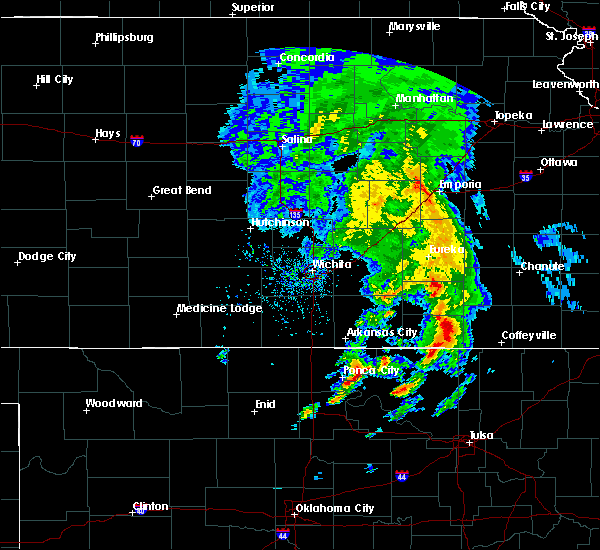 Radar Image for Severe Thunderstorms near Neodesha, KS at 4/24/2020 3:40 PM CDT