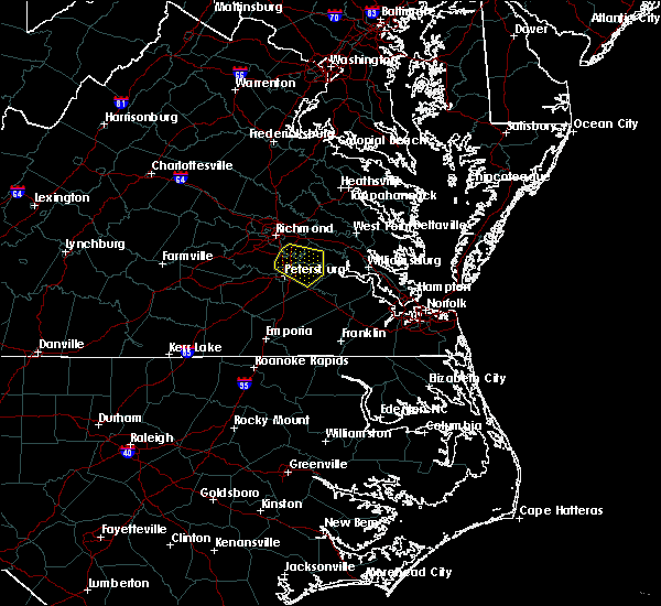 Radar Image for Severe Thunderstorms near Hopewell, VA at 4/24/2020 5:10 PM EDT
