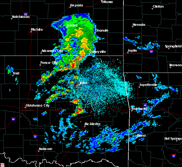 Radar Image for Severe Thunderstorms near Checotah, OK at 4/24/2020 4:38 PM CDT