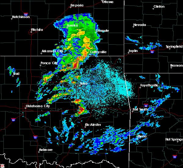 Radar Image for Severe Thunderstorms near Bartlesville, OK at 4/24/2020 4:40 PM CDT