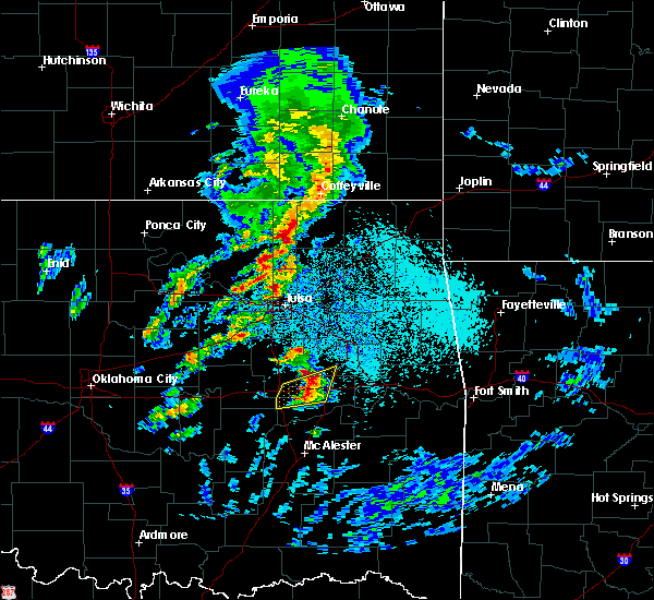 Radar Image for Severe Thunderstorms near Checotah, OK at 4/24/2020 4:57 PM CDT