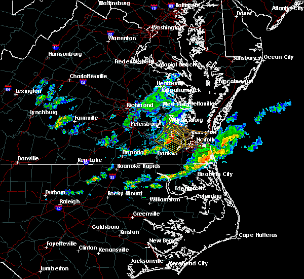 Radar Image for Severe Thunderstorms near Carrollton, VA at 4/24/2020 6:09 PM EDT