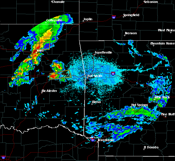 Radar Image for Severe Thunderstorms near Tamaha, OK at 4/24/2020 5:35 PM CDT