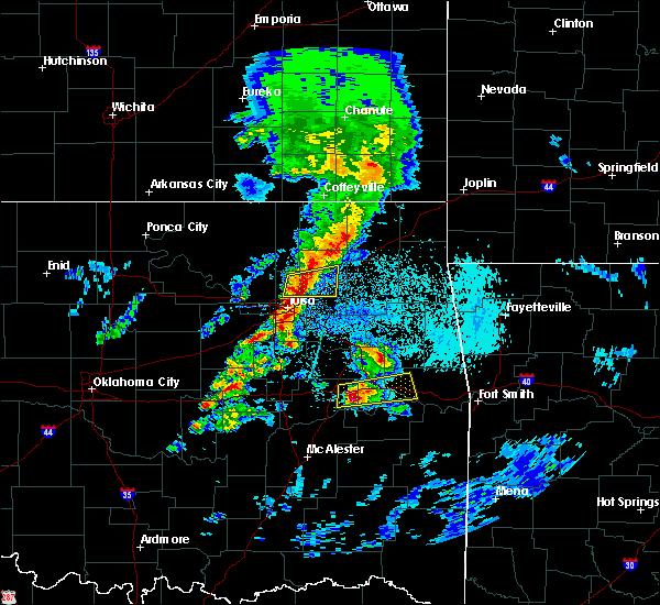 Radar Image for Severe Thunderstorms near Fair Oaks, OK at 4/24/2020 5:44 PM CDT