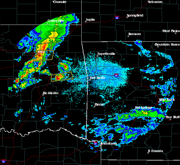 Radar Image for Severe Thunderstorms near Tamaha, OK at 4/24/2020 5:51 PM CDT