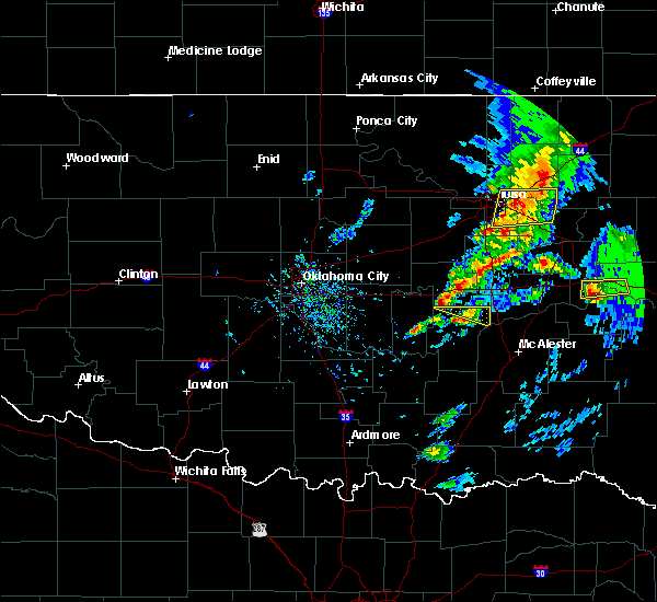Radar Image for Severe Thunderstorms near Wetumka, OK at 4/24/2020 6:05 PM CDT