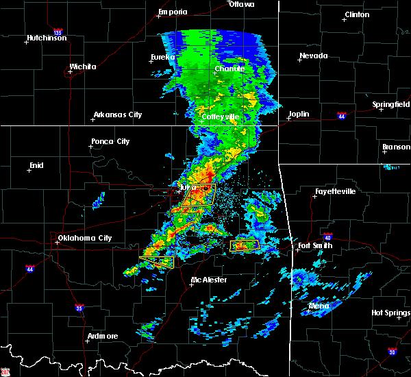 Radar Image for Severe Thunderstorms near Fair Oaks, OK at 4/24/2020 6:08 PM CDT