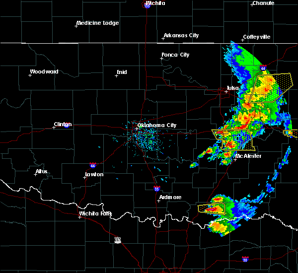 Radar Image for Severe Thunderstorms near Bokchito, OK at 4/24/2020 6:43 PM CDT