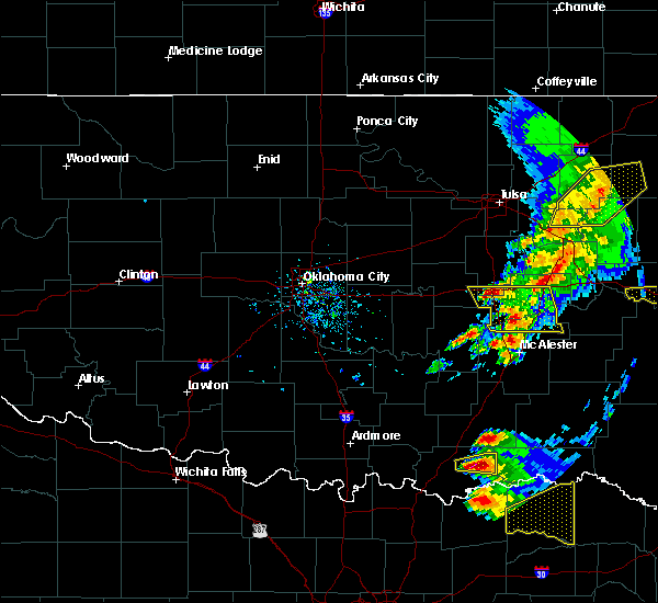 Radar Image for Severe Thunderstorms near Bokchito, OK at 4/24/2020 6:48 PM CDT