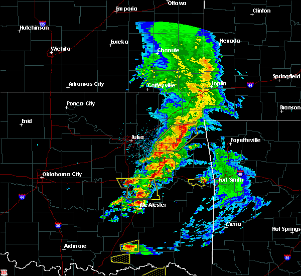 Radar Image for Severe Thunderstorms near Checotah, OK at 4/24/2020 6:58 PM CDT