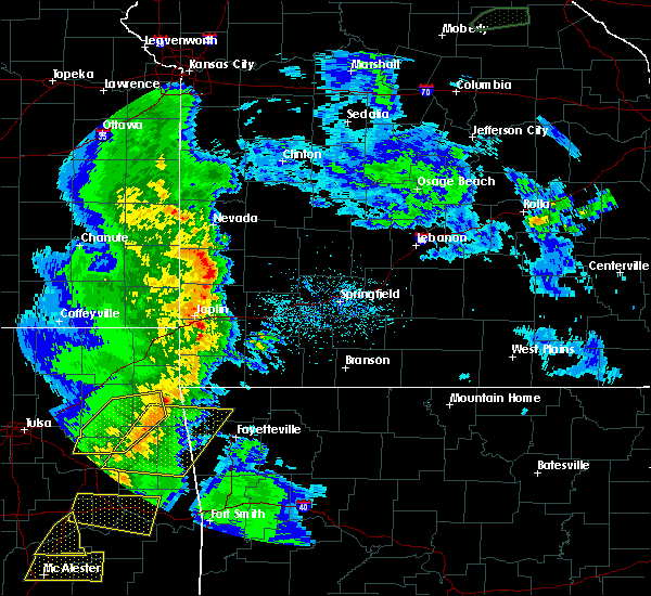 Radar Image for Severe Thunderstorms near Lockwood, MO at 4/24/2020 7:16 PM CDT