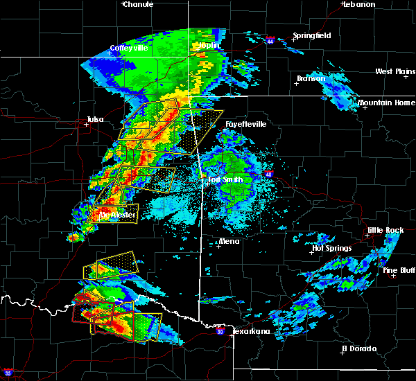 Radar Image for Severe Thunderstorms near Quinton, OK at 4/24/2020 7:18 PM CDT