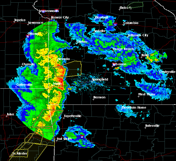 Radar Image for Severe Thunderstorms near Lockwood, MO at 4/24/2020 7:39 PM CDT