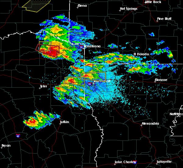 Radar Image for Severe Thunderstorms near Kilgore, TX at 4/24/2020 8:10 PM CDT
