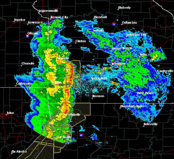 Radar Image for Severe Thunderstorms near Fair Play, MO at 4/24/2020 8:17 PM CDT