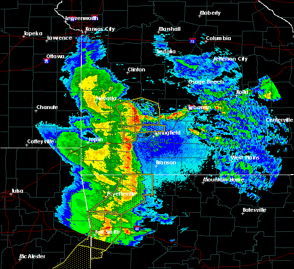 Radar Image for Severe Thunderstorms near Aldrich, MO at 4/24/2020 8:45 PM CDT