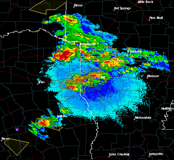 Radar Image for Severe Thunderstorms near Stamps, AR at 4/24/2020 8:50 PM CDT