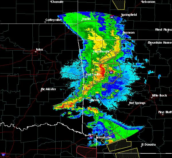 Radar Image for Severe Thunderstorms near Oak Grove, AR at 4/24/2020 9:07 PM CDT