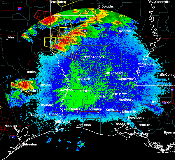 Radar Image for Severe Thunderstorms near Colmesneil, TX at 4/24/2020 9:24 PM CDT