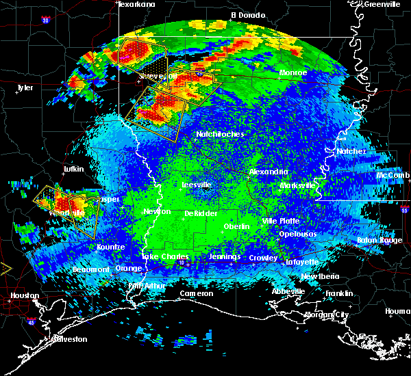 Radar Image for Severe Thunderstorms near Pleasant Hill, TX at 4/24/2020 9:37 PM CDT