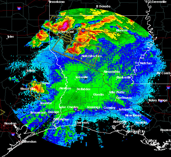 Radar Image for Severe Thunderstorms near Woodville, TX at 4/24/2020 9:55 PM CDT