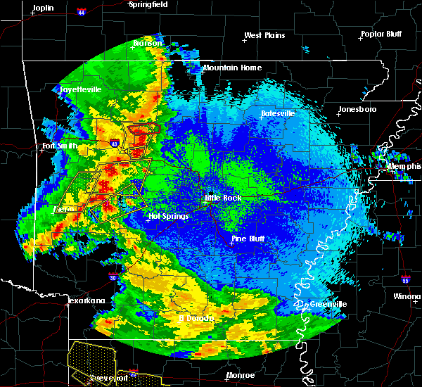 Radar Image for Severe Thunderstorms near Hector, AR at 4/24/2020 9:59 PM CDT