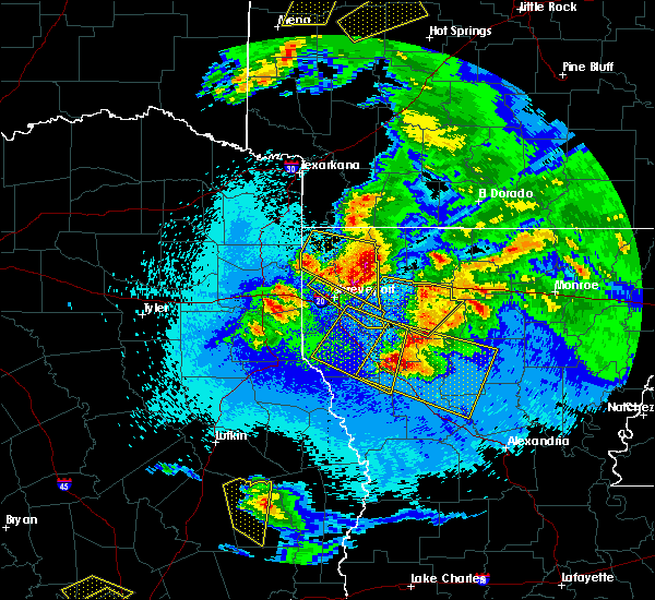 Radar Image for Severe Thunderstorms near Bryceland, LA at 4/24/2020 10:00 PM CDT