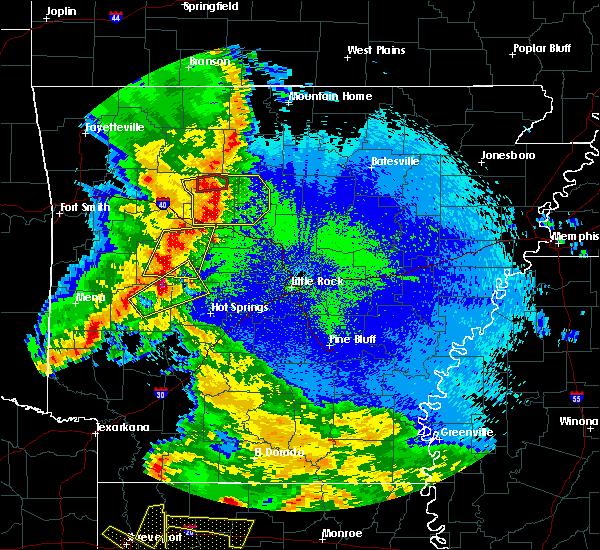 Radar Image for Severe Thunderstorms near Plumerville, AR at 4/24/2020 10:18 PM CDT