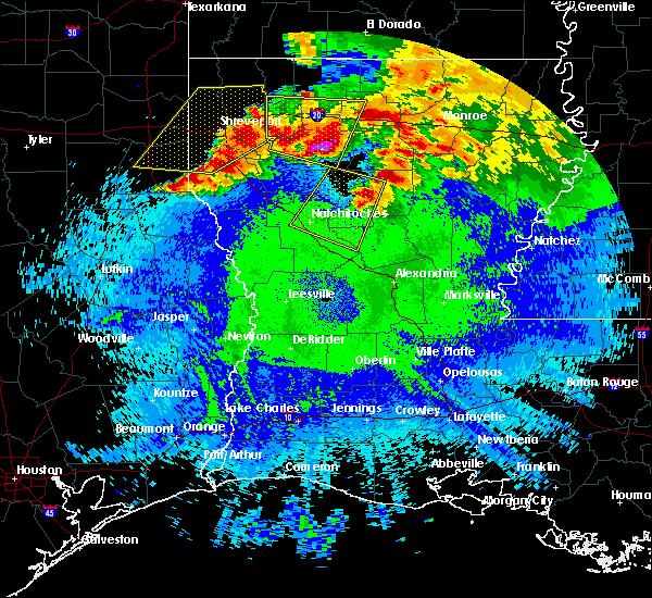 Radar Image for Severe Thunderstorms near Dodson, LA at 4/24/2020 10:45 PM CDT