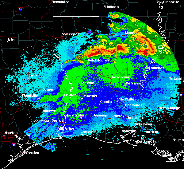 Radar Image for Severe Thunderstorms near Sikes, LA at 4/24/2020 11:39 PM CDT