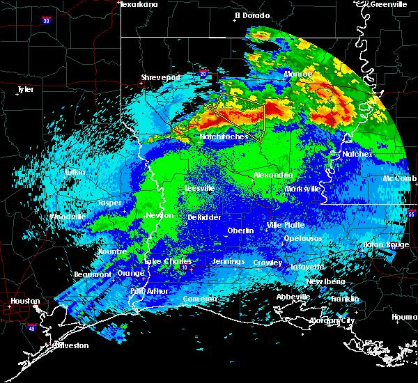Radar Image for Severe Thunderstorms near Clarks, LA at 4/24/2020 11:46 PM CDT