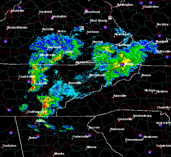 Radar Image for Severe Thunderstorms near Tellico Plains, TN at 4/25/2020 5:21 PM EDT