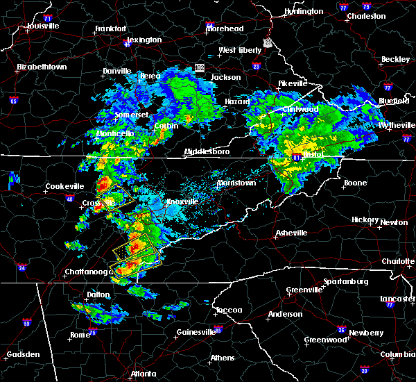 Radar Image for Severe Thunderstorms near Tellico Plains, TN at 4/25/2020 5:41 PM EDT