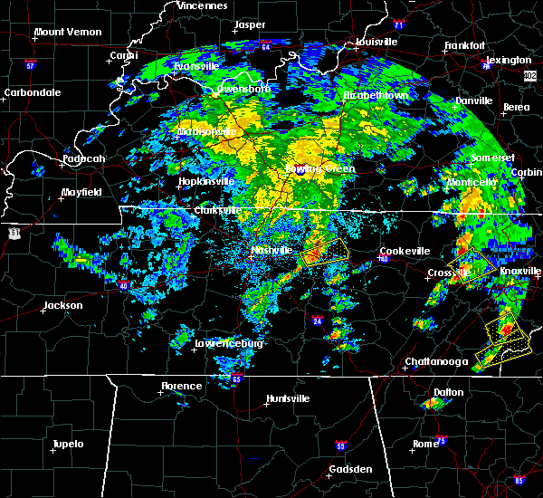 Radar Image for Severe Thunderstorms near Carthage, TN at 4/25/2020 4:46 PM CDT