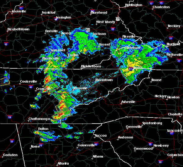 Radar Image for Severe Thunderstorms near Coalfield, TN at 4/25/2020 5:48 PM EDT
