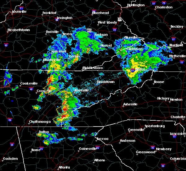 Radar Image for Severe Thunderstorms near Vonore, TN at 4/25/2020 5:54 PM EDT