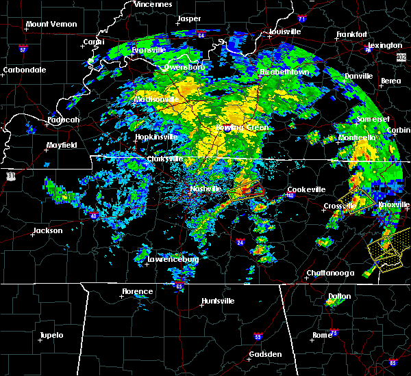 Radar Image for Severe Thunderstorms near Carthage, TN at 4/25/2020 4:58 PM CDT