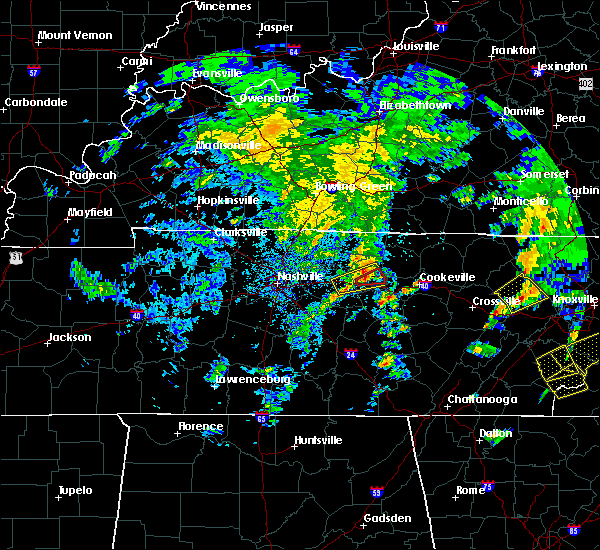 Radar Image for Severe Thunderstorms near Carthage, TN at 4/25/2020 5:02 PM CDT