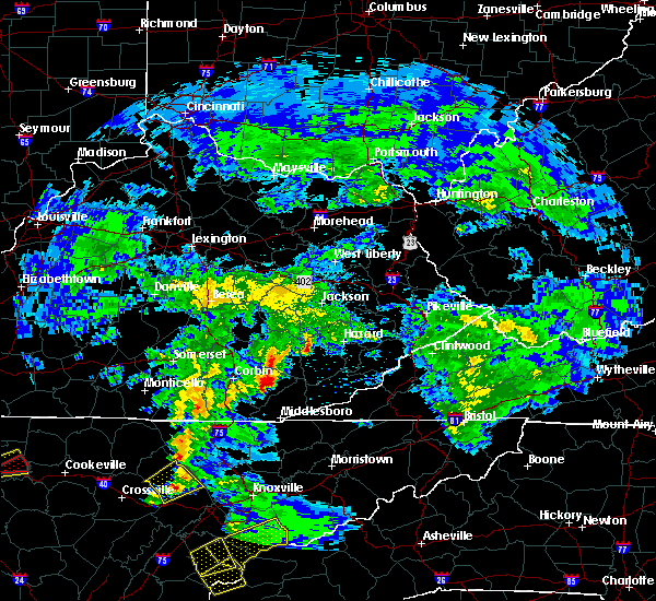 Radar Image for Severe Thunderstorms near Barbourville, KY at 4/25/2020 6:04 PM EDT