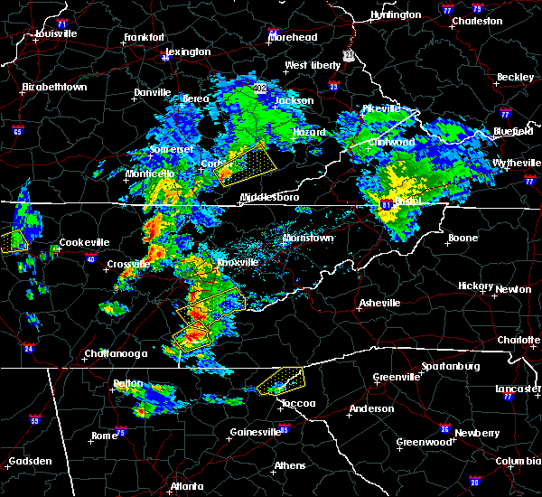 Radar Image for Severe Thunderstorms near Caryville, TN at 4/25/2020 6:06 PM EDT